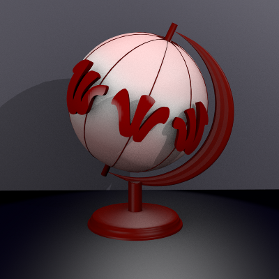 render frontal globo web