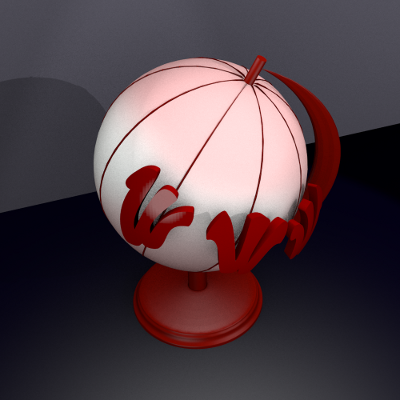 render lateral globo web