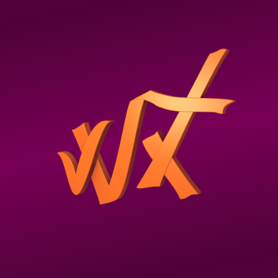 render ligeramente inclinado de la version reducida del logo de winxed